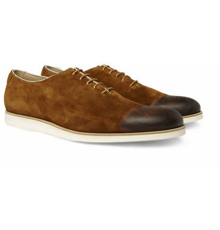 Mr. Hare Sir Coxsone Contrast-Sole Suede Shoes