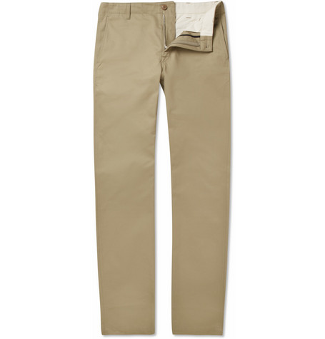 Woolrich Woolen Mills Straight-Leg Cotton-Twill Trousers