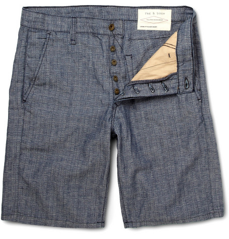 Rag & bone Slim-Fit Cotton and Linen-Blend Shorts