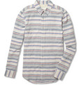 Rag & bone Striped Cotton and Linen-Blend Shirt