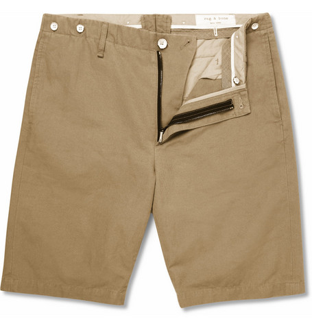 Rag & bone Cotton and Linen-Blend Chino Shorts