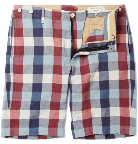 Rag & bone Check Cotton Shorts