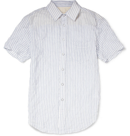 Rag & bone Short-Sleeved Striped Cotton Shirt