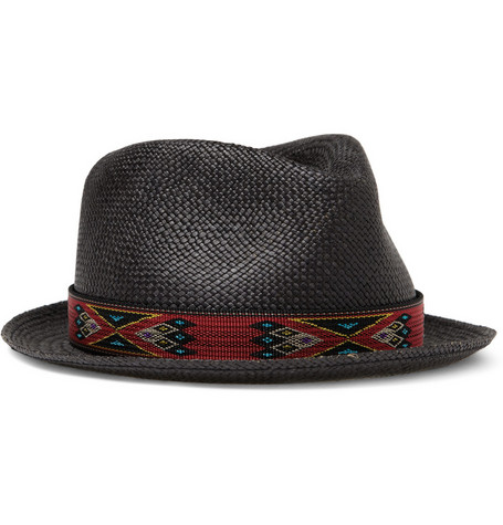 Rag & bone Straw Trilby Hat