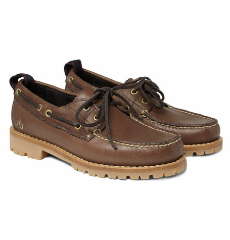 Rag & bone Preston Chunky-Sole Leather Boat Shoes