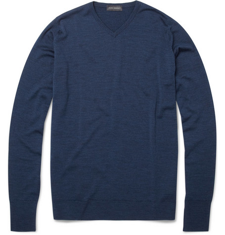 John Smedley Bower Merino Wool V-Neck Sweater