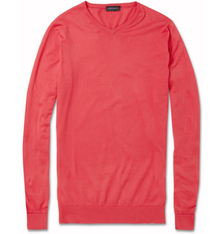 John Smedley Roe Sea Island Cotton Sweater