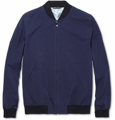 Richard James Cotton-Seersucker Bomber Jacket