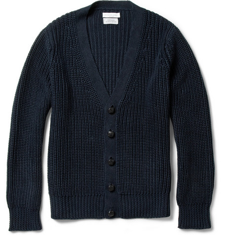Richard James Chunky-Knit Linen Cardigan