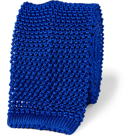 Richard James Slim Knitted Silk Tie
