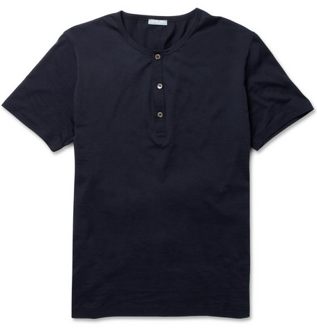 Sunspel Cotton Henley T-shirt