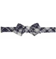 Alexander Olch Plaid Cotton Bow Tie
