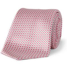 Canali Woven-Silk Tie