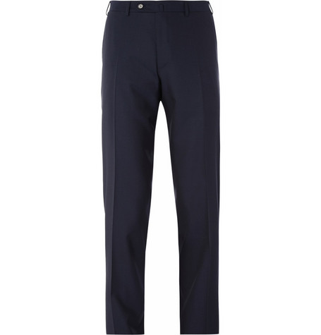 Canali Straight-Leg Wool Trousers