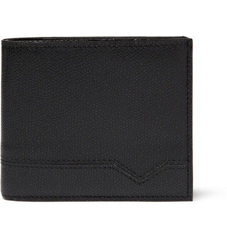 Valextra Cross-Grain Leather Wallet