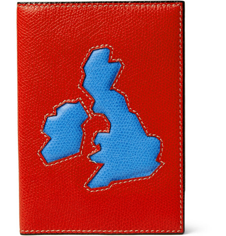 Valextra British Isles Textured-Leather Passport Cover