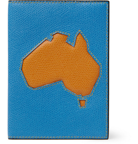 Valextra Australia Textured-Leather Passport Cover