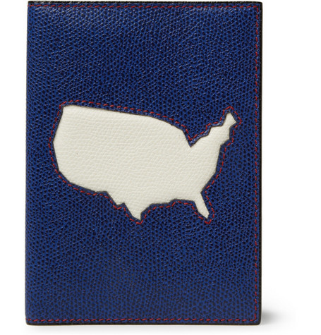 Valextra USA Textured-Leather Passport Cover