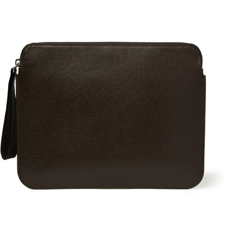 Valextra Zipped Leather iPad Case