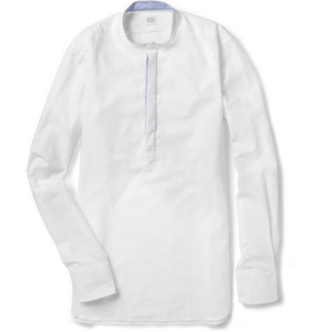 E. Tautz Henley Grandad-Collar Cotton Shirt