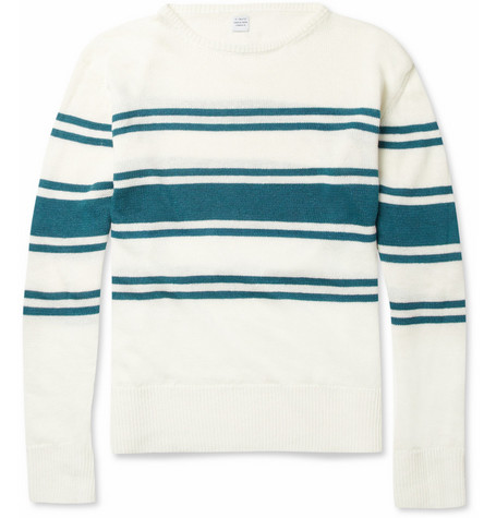 E. Tautz Striped Knitted Linen Sweater
