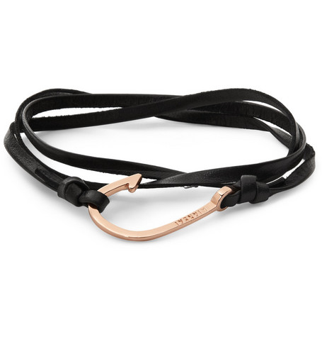 Miansai Leather and Metal Hook Bracelet