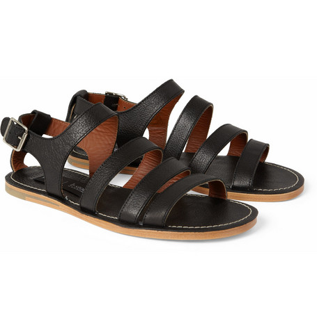 B Store Cisco Leather Sandals