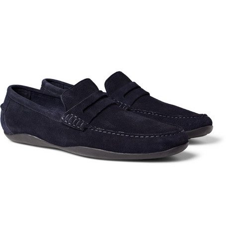 Harrys of London Basel Kudo Suede Loafers