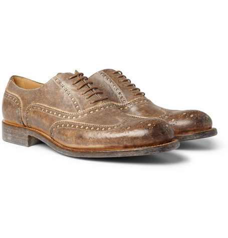 O'Keeffe Washed Leather Wingtip Brogues