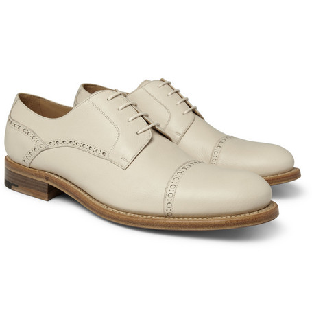 O'Keeffe Pebble-Grain Leather Derby Shoes