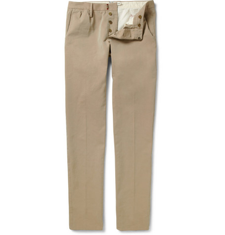 Slowear Incotex Cotton-Twill Chinos