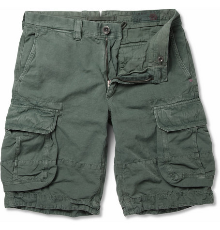 Slowear Incotex Cotton and Linen-Blend Cargo Shorts