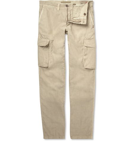 Slowear Incotex Cotton and Linen-Blend Cargo Trousers