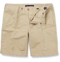 Incotex Incotex Slim-Fit Linen and Cotton-Blend Shorts