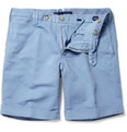Incotex - Incotex Slim-Fit Linen and Cotton-Blend Shorts
