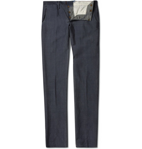 Slowear Incotex Slim-Fit Wool-Blend Trousers