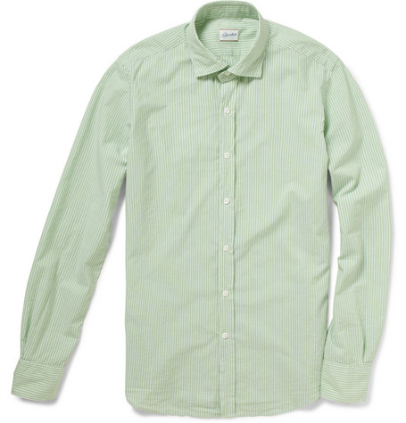 Slowear Glanshirt Slim-Fit Cotton and Linen-Blend Shirt