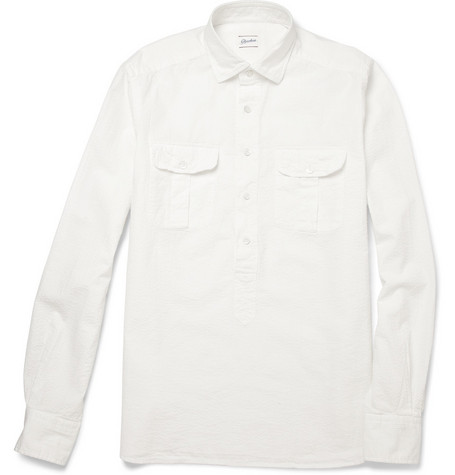 Slowear Glanshirt Cotton-Seersucker Shirt