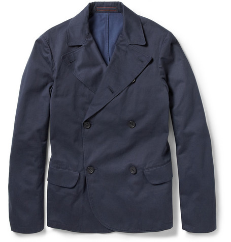 Slowear Montedoro Double-Breasted Cotton-Twill Jacket