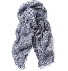 Slowear Zanone Woven Linen and Cotton-Blend Scarf