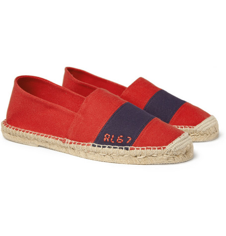 Ralph Lauren Shoes & Accessories Striped Cotton-Canvas Espadrilles