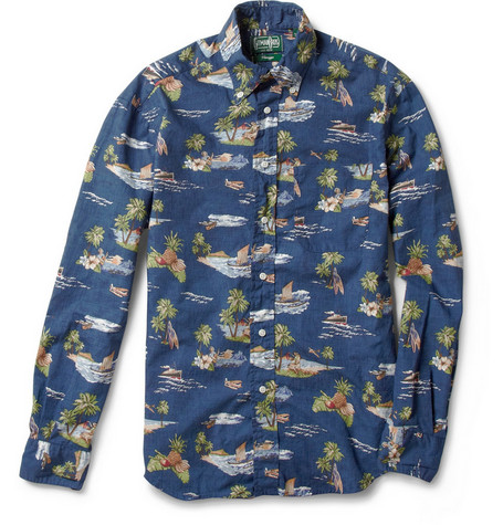 Gitman Vintage Slim-Fit Hawaiian-Print Shirt