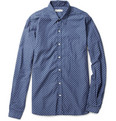 Oliver Spencer Polka Dot-Print Slim-Fit Cotton Shirt