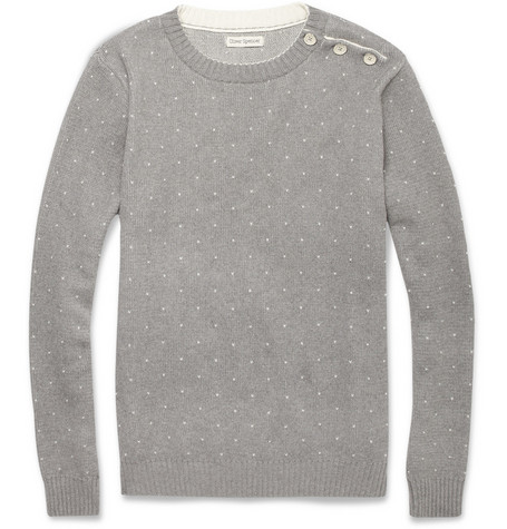 Oliver Spencer Speckled Cotton-Knit Sweater