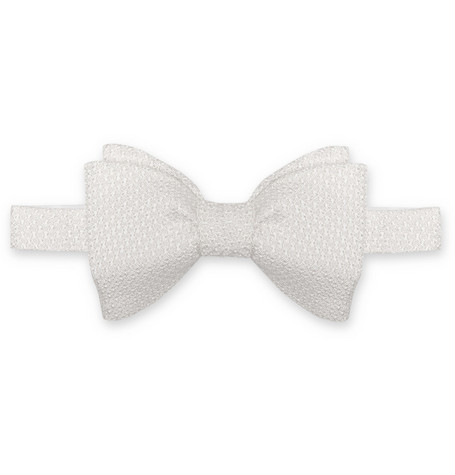 Lanvin New Alber Grenadine Silk Double-Bow Tie