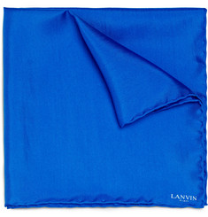 Lanvin Rolled-Seam Silk Pocket Square