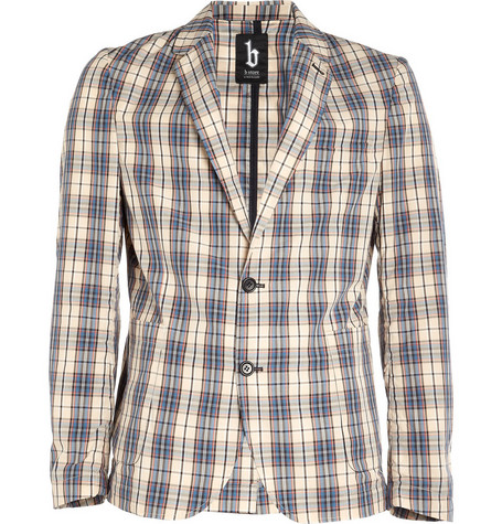 B Store Bert Plaid Cotton Blazer