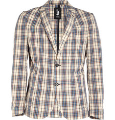B Store Madras-Check Cotton Blazer