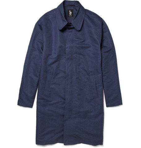 B Store Boy Linen and Cotton-Blend Overcoat