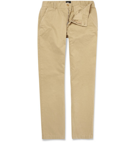 B Store Basil Washed-Cotton Chinos